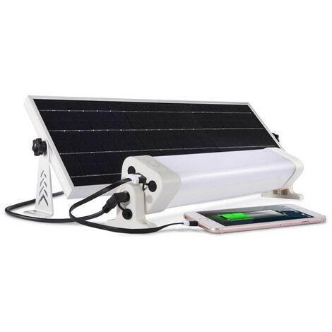Puissante barre LED solaire multifonction - 900lm pour 15-20m² - blanc