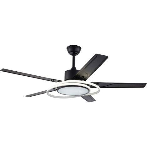 Ventilateur de Plafond D'Inversion Moderne avec Lumière Pour Salon Intérieur Restaurant Chambre Lustre de Ventilateur de Plafond avec Lumière LED et Télécommande 5 Lames