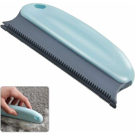 AIDUCHO Brosse pour épiler les poils pour animaux domestiques ; Épilateur de poils de chat ; Épilateur professionnel pour canapé, meubles, moquette, vêtements, couvertures, voiture, lit (Bleu cycle)