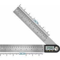 Numérique Angle Finder 0-360 ° Numérique Inclinomètre En Acier Inoxydable Rapporteur D'angle Règle avec LCD Affichage pour Travail Du Bois Construction Réparation