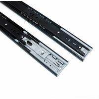 """AIDUCHO 2 paires de glissières en acier pour glissières de tiroir à roulement à billes 14""""(35 cm) Soft Close Extension complète pour le côté des tiroirs fixe, tablette coulissante, capacité de 35kg"""