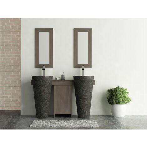 salle de bain teck cleopatra A3 double porte noir