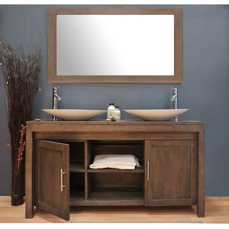 Meuble salle de bain teck 140 A3