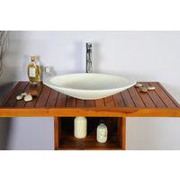 Meuble salle de bain teck 100 New Gempo