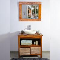Meuble salle de bain teck 85 new savanah