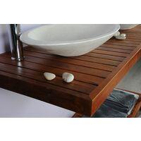 Meuble salle de bain teck 140 gempo
