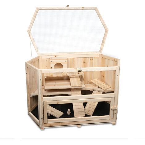 Clapier pour cochon d'Inde MATS en bois, dimensions: 90x55x55 cm (L/P/H)