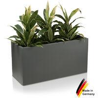 Pot de fleur VISIO 50 en plastique, dimensions: 100x40x50 cm (L/P/H), couleur: gris basalte