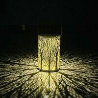 La lanterne solaire de LED accrochant les lumières solaires de la silhouette marocaine LED allume la lampe imperméable de éclairage extérieur de jardin pour la cour de patio [Classe énergétique A+]
