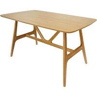 Oak Goran Rectangular Dining Table for up to 6 people, W135xD80xH75 cm - Oak