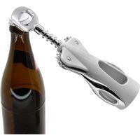 Tire-bouchon bouteille cave � vin chrome satin� Fackelmann 49455