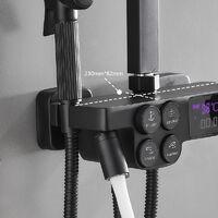 XICHAO Colonne de Douche Avec Ecran LCD et Pistolet d'Arrosage - Noir