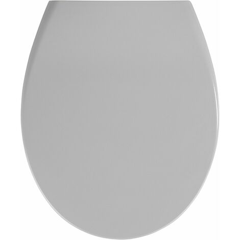 Wenko Premium WC-Sitz Samos Concrete Grey, Duroplast, mit Absenkautomatik - Hellgrau