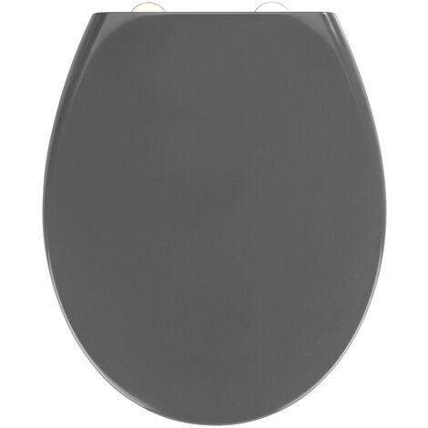 Wenko Premium WC-Sitz Samos Grau, mit Absenkautomatik - Dunkelgrau