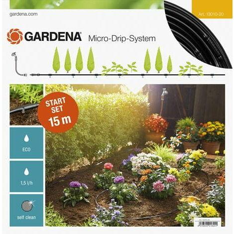 GARDENA Kit d'arrosage goutte-à-goutte pour rangées de plantes S (13010-20).