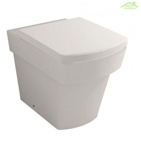 Cuvette WC à poser LARX avec abattant à frein de chute 54x36x40 cm
