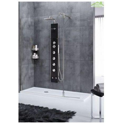 Colonne de douche hydromassante NOVELLINI CASCATA2 176 cm - Blanc - Blanc