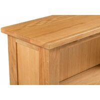 Waverly Oak Shoes Storage Cabinet in Light Oak Finish   Solid Wooden Cupboard / Organiser