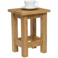 Waverly Oak Small Side Table in Light Oak Finish | Solid Wooden Slim Occasional / Coffee / Lamp / End / Console Stand