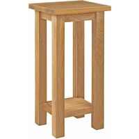 Waverly Oak Tall Plant Stand Table with Shelf | Small Solid Wooden Telephone / Side / Lamp / Bedside Table / Nightstand / End Stand Table / Occasional Table