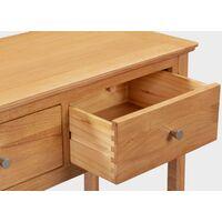 Hereford Oak Dressing Table / Console Table in Light Oak Finish | Solid Wooden Office Desk / Makeup Vanity Desk | Bedroom Furniture