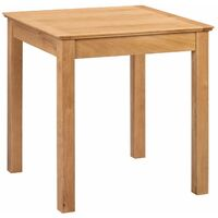 Hereford Oak Small Fixed Top Square Dining Table in Light Oak Finish   Solid Wooden Kitchen Dinner Table   Top 75cm x 75cm