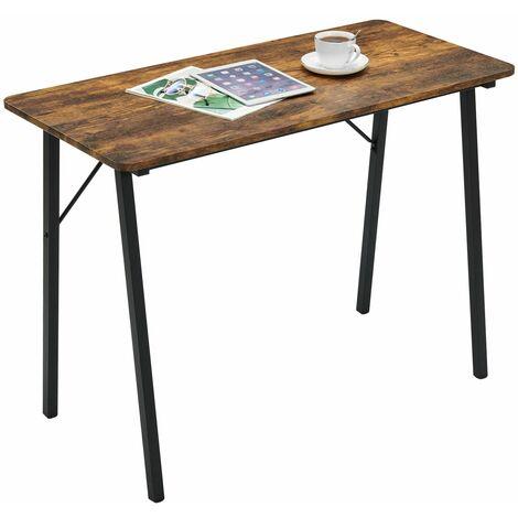 Study Desk Modern Simple Computer Desk Industrial Writing Table Workstation with Metal Legs Wooden Desk for Home Office Kids Students Adult Vintage Brown - Vintage Brown