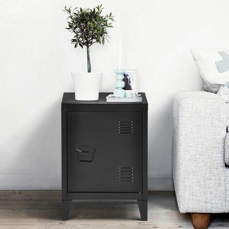 Small Storage Cabinet,Metal Floor Cabinet,Free Standing Storage Cupboard,Side Storage Organizer Cabinet,2 tier Storage Shelves for Home Office Study Bedroom Living room(Black,30 ×40×57cm)  - Black