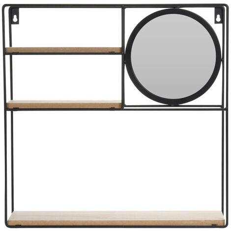 Dekoregal mit kleinem Spiegel, 3 Ablagen, 49 x 41 cm