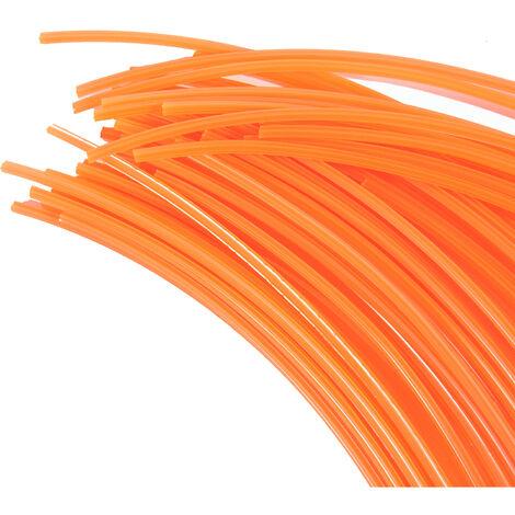 30 Brins 3 mm X 42 cm de fil professionnel étoile pour débroussailleuse