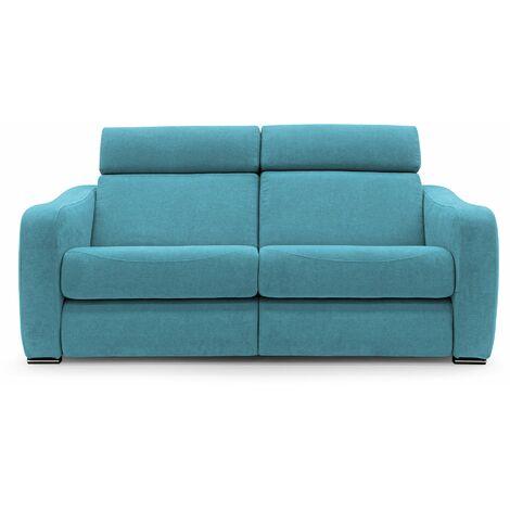 Divano 2 posti con relax elettrico GUMMY azzurro 172 cm - azzurro