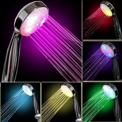7 Colors LED Shower Head, Multicolor, Universal Fit
