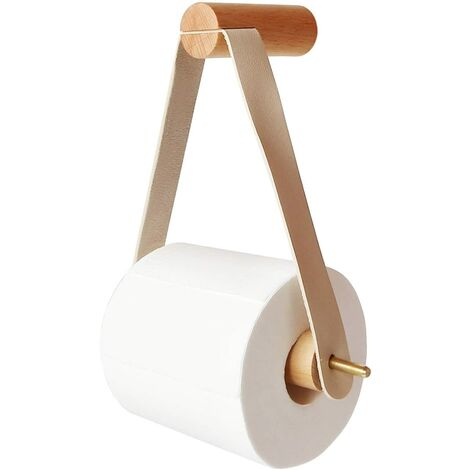 Toilet Roll Holder, Wooden Roll Holder Creative Wall-Mounted Toilet Paper Holder