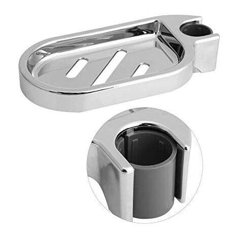 Soap dish, adjustable shower soap dish for shower bar, silver