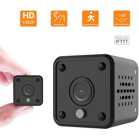 Mini Portable 1080P HD WiFi WiFi Surveillance Camera Nanny Cam Pet Office Garage Home 140 ° Wide Angle Infrared Night Vision Motion Detection for iOS / Android