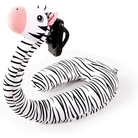 2 in 1 U Shaped Pillow Laptop Neck Support, Lazy Cell Phone Stand, U Shaped Pillow, Cute Cartoon Animal Neck Pillow-zebra