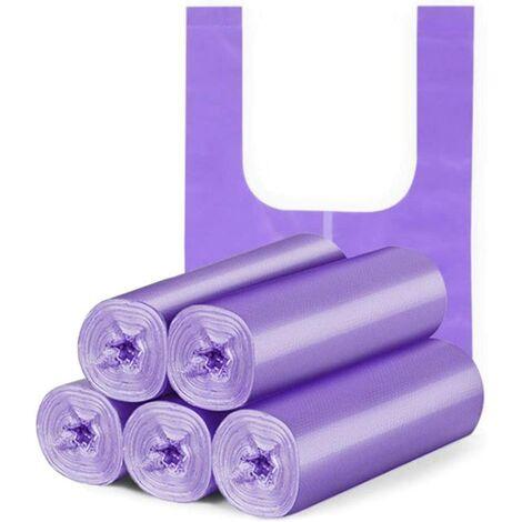 5 rolls 100pcs Garbage Bag Closure Garbage Bag odorless Universal Environmental Garbage Bag Portable Handle Plastic Garbage Bags Thick Plastic Bag for Home Office