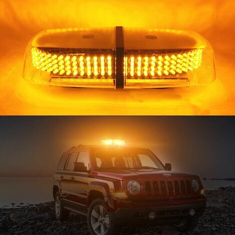 Orange LED Strobe Light Penetration Lights 240 LED Magnetic Flashing Flash with 7 Flash Modes Use for Outdoor Lighting Warning