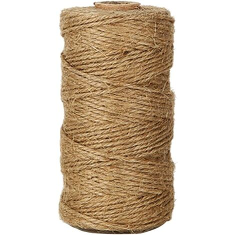 100M Jute Twine Rope 2 ply natural Jute Twine, Gardening Twines, Craft Twine, for Gardening Wedding decoration, Creative Arts DIY Gift decoration Gift wrapping (1mm)