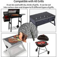 Set of 3 Barbecue Cooking Mats, Non-stick Barbecue Mesh Mat, Easy to Clean Reusable Cooking Mat, for Gas, Charcoal or Electric BBQs