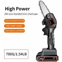 Cordless Electric Chainsaw, 10cm Mini Chainsaw, Small Household Portable Electric Saw, Rechargeable Battery Powered Chainsaw for Tree Branch Wood Cutting, Super Convenient Chainsaw