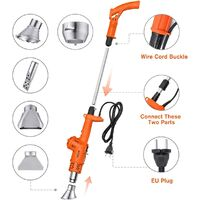 Electric Weed Burner, 80/650 ℃ 2000W Weed Burner with Cord and 5 Nozzles, Hot Air Gun Function / Charcoal Light, for Garden / BBQ / DIY, Dark Orange