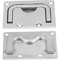 Flush Boat Hatch Locker, Pull Recessed Hatch Boat Handle Stainless Steel Cabinet Lift Pull Handle