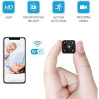Mini Surveillance Camera I WiFi HD 1080P Mini Surveillance Camera Nanny Security with Motion Detection and Infrared Night Vision for iPhone / Android Phone / iPad