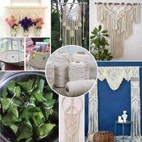 Macrame yarn, Natural Cotton Jute Rope, Cotton Rope Cord for Macrame, Cotton Rope, Macrame for DIY (100M-3mm)