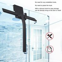 Shower Squeegee, Silicone Bathroom Squeegee for Glass Wiper, Window Wiper with Hanging Hook for Bathroom, Kitchen (No Need to install)