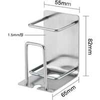 2 Piece Set Stainless Steel Toothbrush Holder Wall Mounted Toothbrush Holder with Suction Cup for Home Hotel, Field Sticker Cup Holder for Kitchen Tool Set