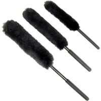 Vehicle Wheel Cleaning Brushes - Pack of 3 | Alloy Rim Cleaning Tools | Anti-scratch brush set