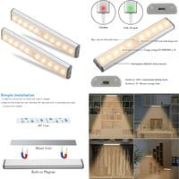 Cabinet Light, Motion Sensor Cabinet Light, Wireless Storage Cabinet Light with Built-in Rechargeable Battery, Magnetic Stick-On Night Light, for Kitchen Cabinet