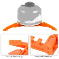 Folding Gas Tank Holder PC Stabilizer Holder for Gas Stove Stand Cartridge Tripod for Camping Tripod Outdoor Shelf